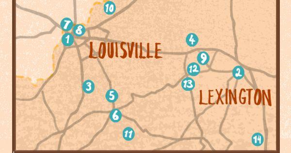 KENTUCKY BOURBON TRAIL MAP Bourbon Kentucky and Trail maps