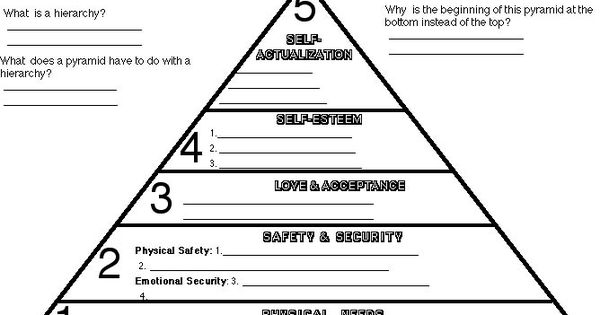 maslow for kids who are absent for alive