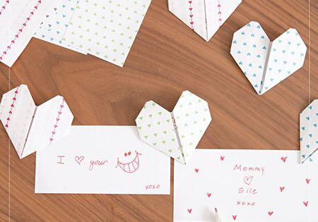 origami heart love notes � how to make an origami heart