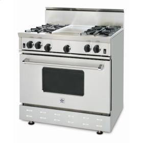 Rnb364ftbv1l In Stainless Steel By Bluestar In Bridgewater Nj 36 Rnb Series Range With A 12 French Top Cooking Range Freestanding Ranges Bluestar Range