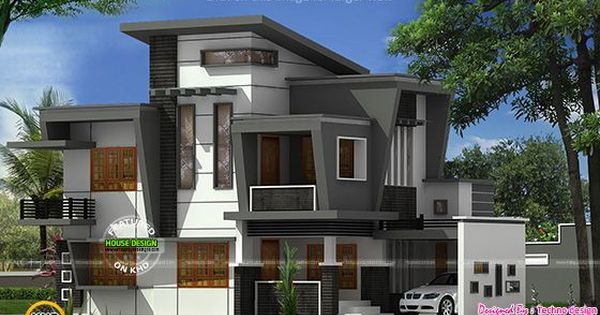 Exquisite Elevation Of House In 2400 Sq Ft Google Search Kerala House Design Modern House Design Modern House