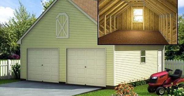 Build A 24' X 24' Garage With Loft (DIY Plans) Fun To
