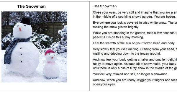 Classroom Control Ideas ~ The snowman guided relaxation script mindfulness
