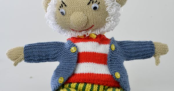 Big Ears Doll ( 50cm tall )- Free Knitting Pattern here: http://www.yourfamil...
