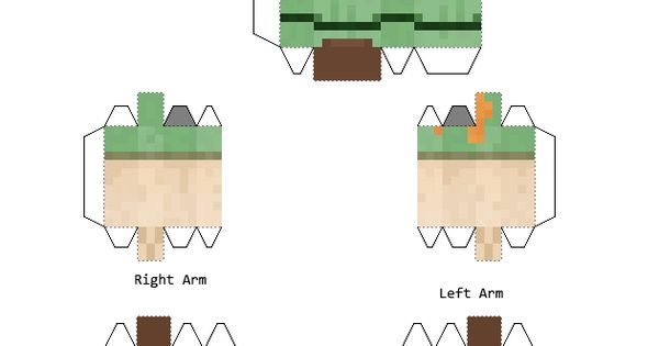 Papercraft Alex Minecraft 1 8 Print Me Please