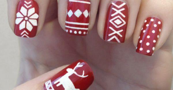 Christmas nail design ideas nails design cute pretty nail art Christmas sweater