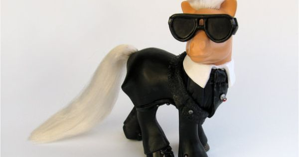 My little Karl Pony! Karl Lagerfeld