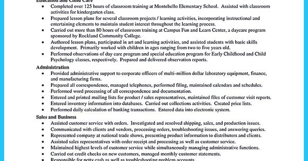There Are Several Parts Of Assistant Teacher Resume To Concern Before You Want To Write It. Here