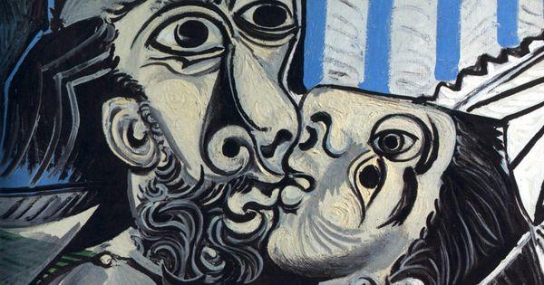 Most Famous Kissing Art Pieces: Pablo Picasso - Kiss - 1969