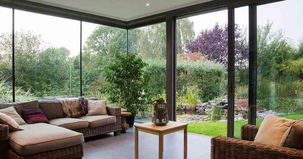 wohn wintergarten modern mit flachdach gr z giger. Black Bedroom Furniture Sets. Home Design Ideas