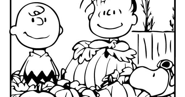 linus great pumpkin coloring pages - photo#19