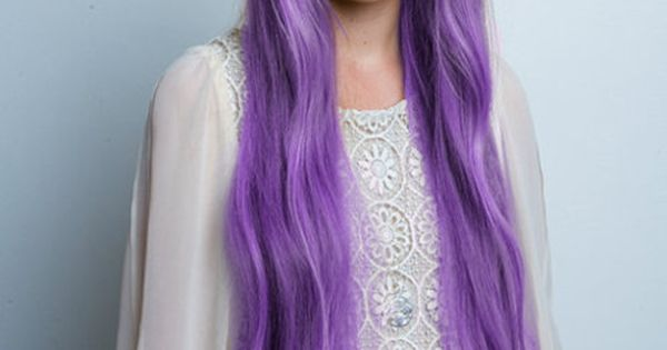 I would love my hair like this ~ Purple princess hair lol!
