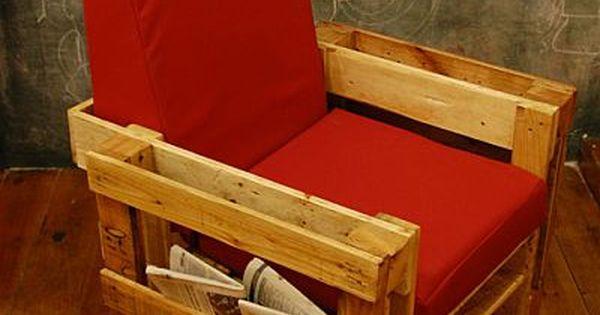 Upcycling fauteuil r alis avec des palettes en bois for Achat meuble en palette