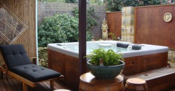find this pin and more on deck ideas for your spa - Spa Patio Ideas