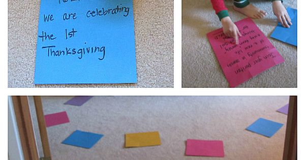 Ive been looking for this! Thanksgiving history activity for kids - move