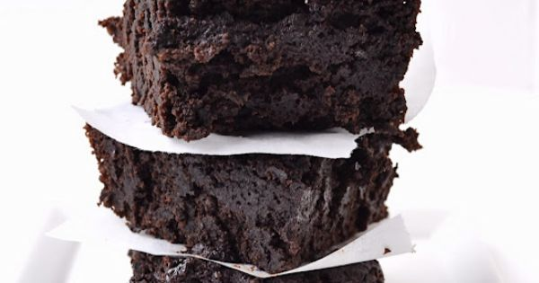 Dark Chocolate Stout Brownies - Vegan and Low Fat. No lie! brownie