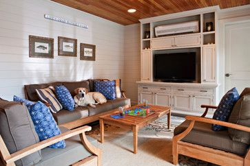 Traditional Home Design Pictures Remodel Decor And Ideas Air Conditioner Units Traditional Family Rooms Built In Furniture