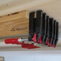 Verschiedene Aufbewahrungsideen Fur Schraubzwingen Jeder Grosse Schraubzwingen Aufbewahrung Werkstatt Werkzeugwand