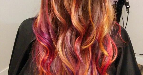 Sunset Hair Long Hair Rainbow Hair Mermaid Hair Joico
