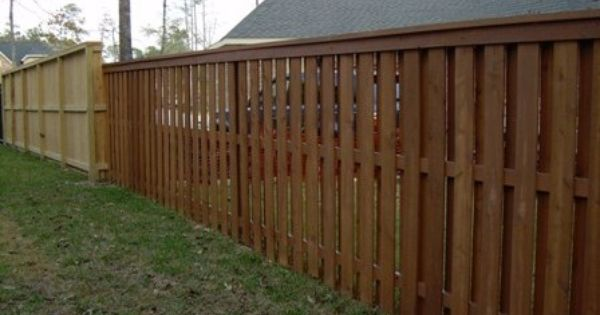 Shadow Box Fence Design Top Dog Eared Picket Fence