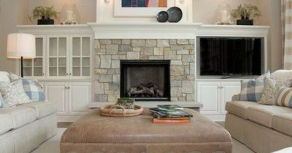 Low Bookcase Next To Fireplace Design Top Even With