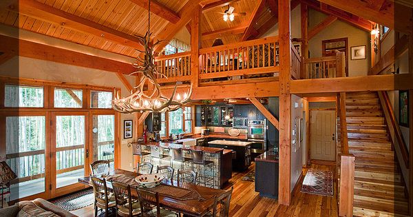 Barndominium gallery texas timber frames homes projects podcast gallery barndominium - Cabin floor concept ...