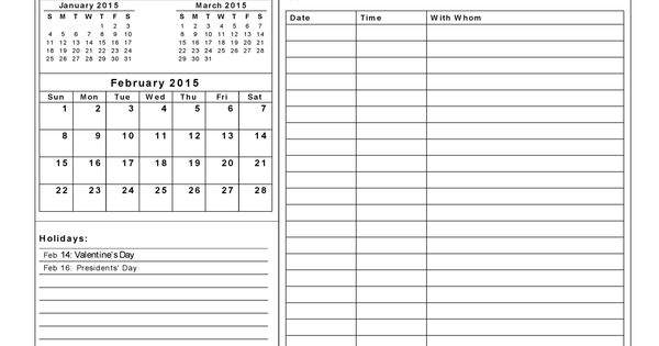 Calendar Wallpaper With Notes : Download february calendar printable notes template