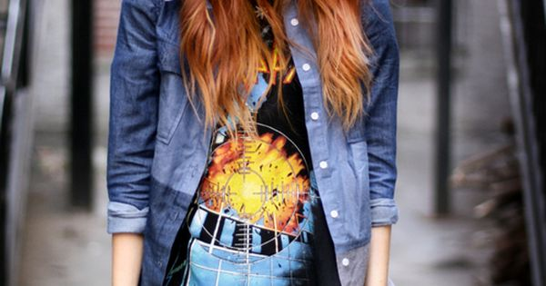 This look, but with thicker& darker knit leggings. rocker twist. women's fashion