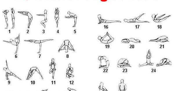 image regarding Bikram Yoga Poses Chart Printable referred to as Bikram Yoga Poses Printable PhoneNinja