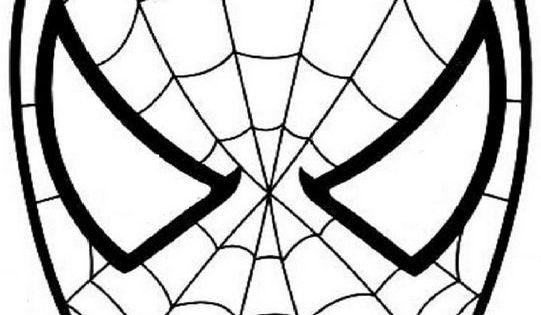 ausmalbild spiderman den spinnenmann maske  masken