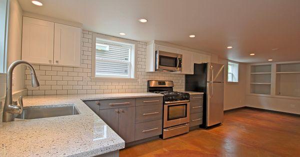 Seattle basement remodel accessory dwelling unit for Modern kitchen cabinets seattle