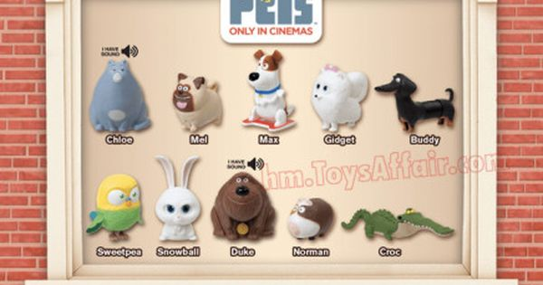 The Secret Life Of Pets Happy Meal Toys Happy Meal Toys Happy Meal Mcdonalds Toys