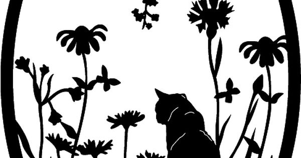 Garden Cat Ovals 1 Cut Ready Dxf File Design For Cnc