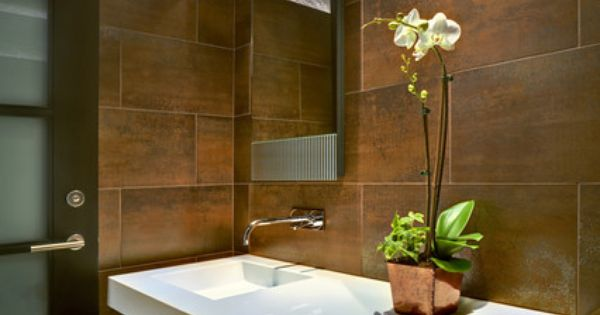 Wall mounted vanity. Tucson Residence Kitchen contemporary powder room ...