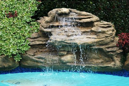 Swimming Pool Waterfalls 9 Models Artificial Rock Waterfall