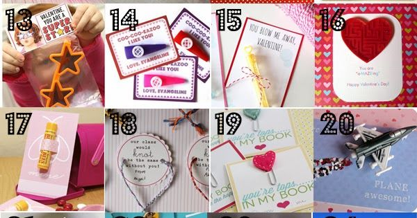 36 No Candy Valentines for Kids