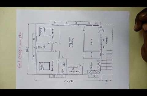 East Facing House Plan As Par Vastu Sq Ft 1204 15 In Ankanams 16 72 Youtube 2bhk House Plan How To Plan Small House Design Plans