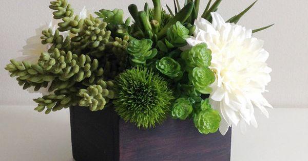 Artificial succulent planter floral arrangement