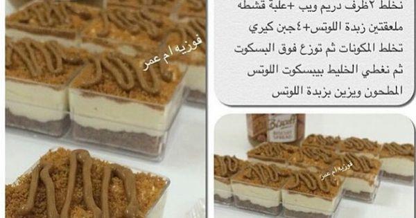 كاسات حلا اللوتس Arabic Sweets Recipes Dessert Ingredients Arabic Dessert
