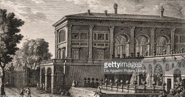 Second Prospect Of The Casino Of Villa Madama In Rome Etching From