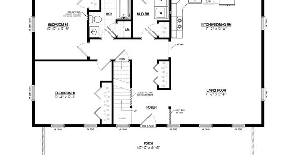40x40 floor plans google search barndo plans pinterest for 40x40 garage plans