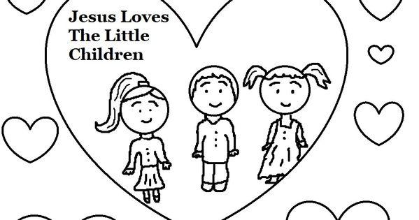 Jesus loves the little children coloring 1 020 for Jesus loves the little children coloring pages