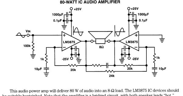 80w 1 chip audio amp