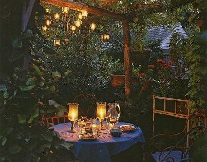 Secret Gardens, Dreams, Romantic Gardens, Places, Dates Night, Patios, Outdoor Spaces, Backyards,