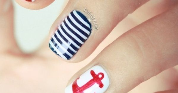 In the Navy Nail Design