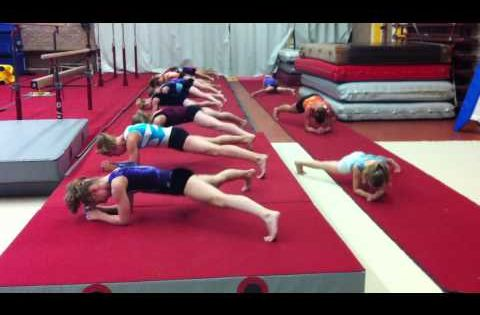 Wild gymnast ab workout. It makes me wanna try and learn the