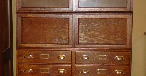 Quartered Quarter Sawn Oak Double Wide Barrister Bookcase