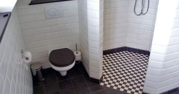 Kempische bouwmaterialen metrotegels badkamer pinterest toilet - Deco wc zwart wit ...