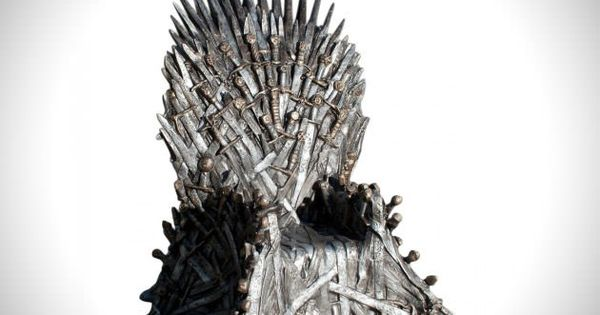 Game of thrones iron throne replica chair for Buy iron throne chair