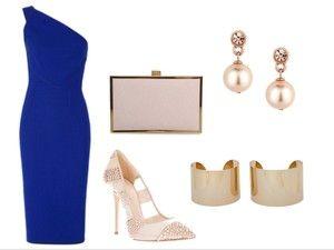 Outfit vestido azul electrico